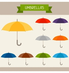Umbrellas colored templates for your design in vector image vector image