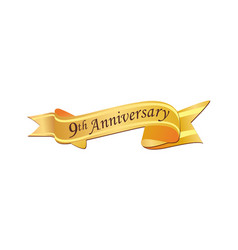 9th anniversary logo vector image