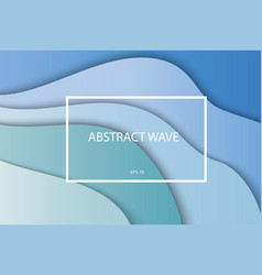 abstract blue paper layers with shadows vector image