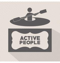 Active people design vector