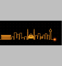 ankara light streak skyline vector image