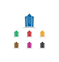 apartment logo vector image
