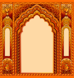Arch with oriental patterns vector