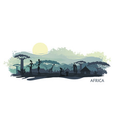 Background with landscape south africa vector
