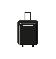 bag of travel black icon vector image