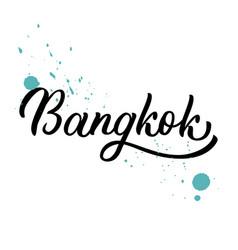 Bangkok hand lettering vector