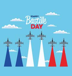 Bastille day air force vector