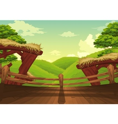 Beautiful Landscape Background vector image
