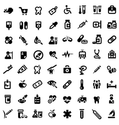 Big medical icons set vector