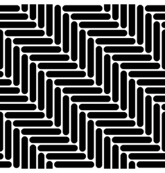 Black and white simple geo herringbone seamless vector image