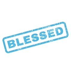 Blessed Rubber Stamp vector