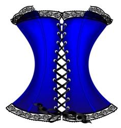 Blue corset vector