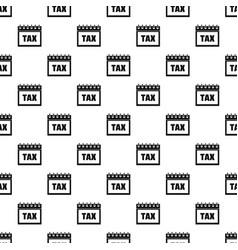 calendar of tax pattern seamless vector image