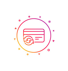 Change credit card line icon payment method sign vector