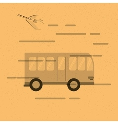 City bus and airplane icon vector