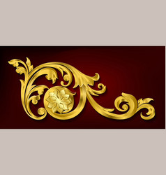 Classical decorative elements in baroque style vector