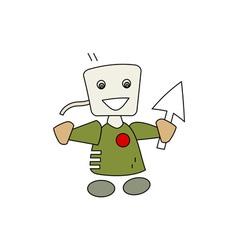 Computer-man-fictional vector
