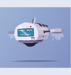 drone character cartoon vector image
