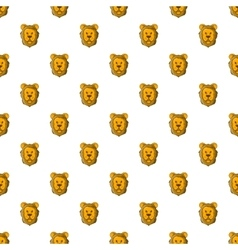 Face of lion pattern cartoon style vector image vector image