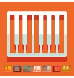 Flat design piano keys vector