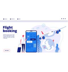 Flight booking online budget travel booking vector