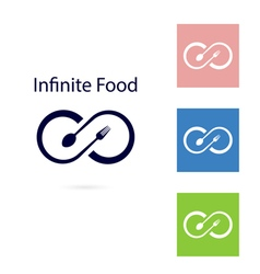 Food and infinity iconFork and spoon sign vector