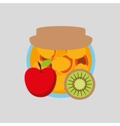 Fruits jam design vector