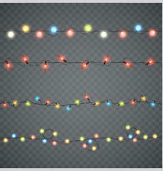 garlands christmas led glowing lights in vector image