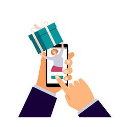 Gift order online vector