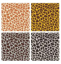 Giraffe print seamless pattern set vector