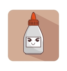 Glue bottle character icon vector