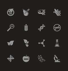 Gmo - flat icons vector