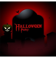 Halloween party tombstone background vector