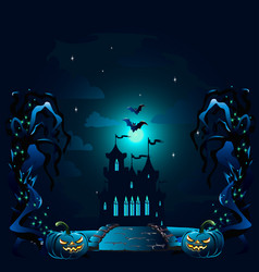 halloween poster with castle vector image
