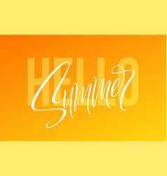 hello summer hand drawn lettering vector image