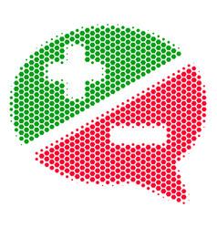 Hexagon halftone arguments icon vector