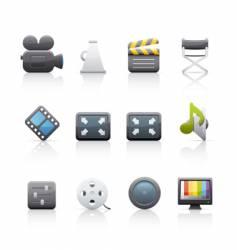 icon set film equipment vector image