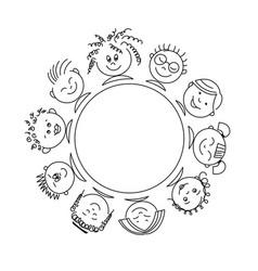 Internation children template vector