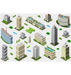 Isometric Megalopolis Building Set vector image