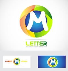 Letter m 3d logo vector