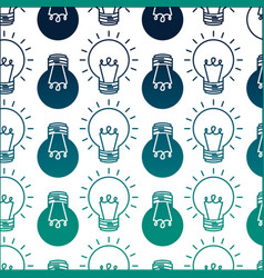 light bulbs idea creativity innovation pattern vector image