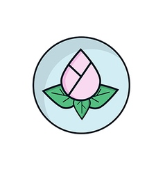 Lotus Flower Flat Design vector image