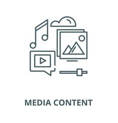 media content line icon linear concept vector image