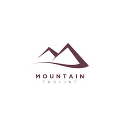 Minimalist and simple mountain design template vector