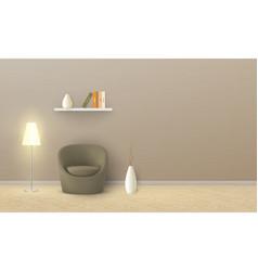 Mockup of empty room minimalist interior vector