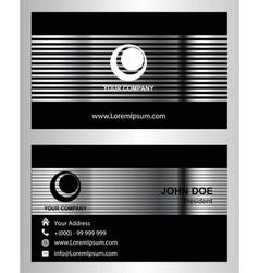 Modern black business card template vector