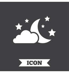 Moon clouds and stars sign icon Dreams symbol vector image