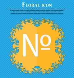 Number icon Set Flat modern Floral flat design on vector
