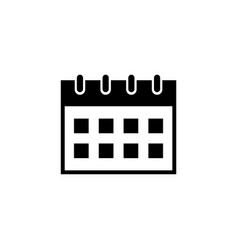 office calendar flat icon vector image