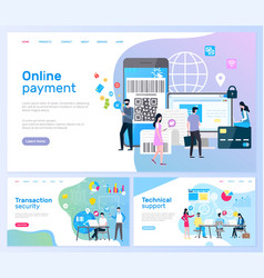 online payment and transaction security pages vector image